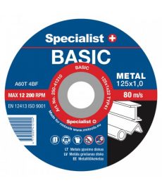 Metallilaikka katkaisun  Specialist Basic 125x1x22  (10kpl )