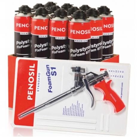 PENOSIL Foam Gun S1 1TK+FixFoam 877 12TK